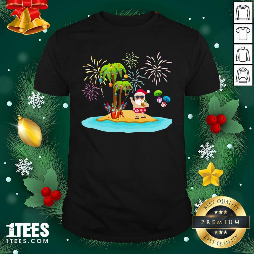 Christmas Palm Tree Xmas Coconut Lights Shirt- Design By 1tees.com