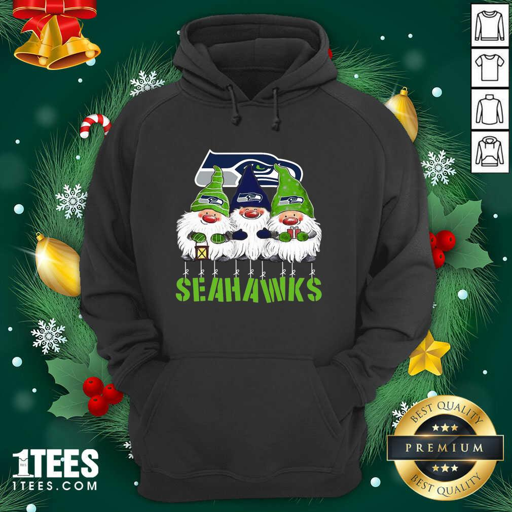 Gnomies Seattle Seahawks Christmas Hoodie- Design By 1Tees.com