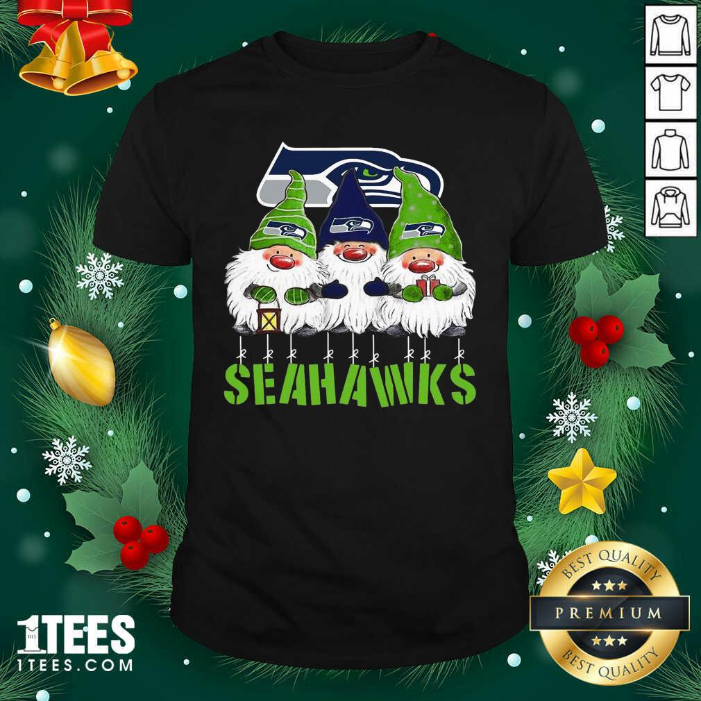Gnomies Seattle Seahawks Christmas Shirt- Design By 1Tees.com