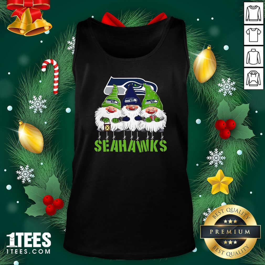 Gnomies Seattle Seahawks Christmas Tank Top- Design By 1Tees.com