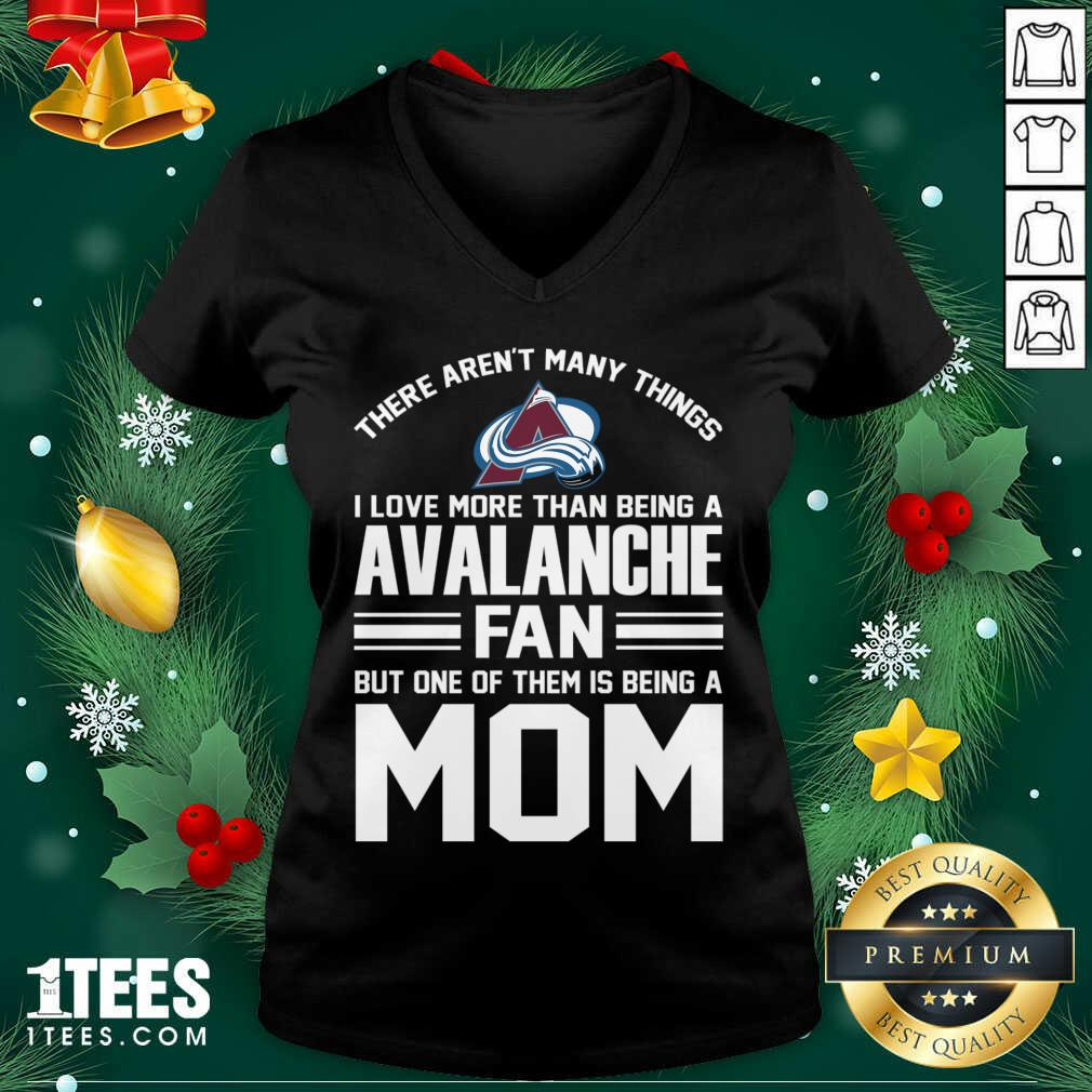 Mother's Day Shirt For Colorado Avalanche Mom V-neck- Design By 1Tees.com