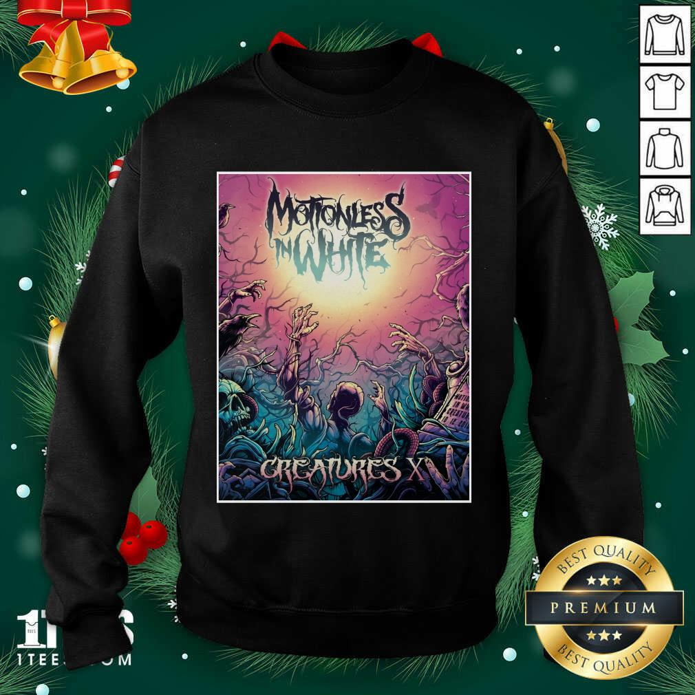 Motionless In White Merch Creatures Deadstream Sweatshirt- Design By 1tees.com