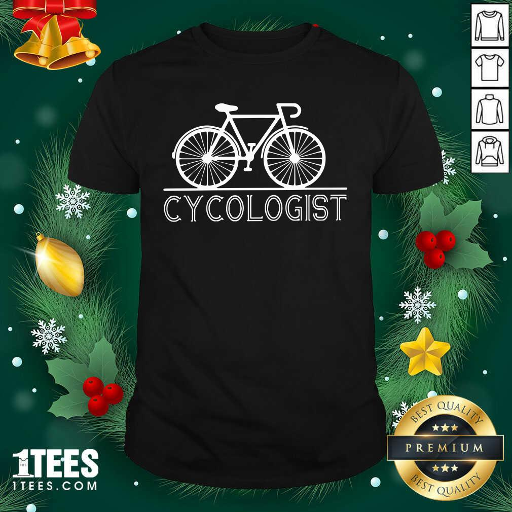 Hot The Bicycle Cycologist Shirt- Design By 1Tees.com
