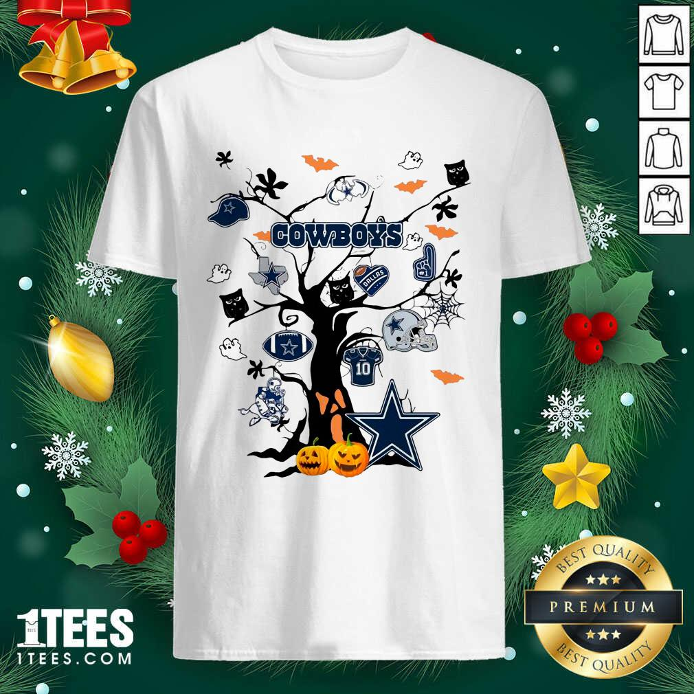 Dallas Cowboys And Ghost On Tree Shirt- Design By 1Tees.com