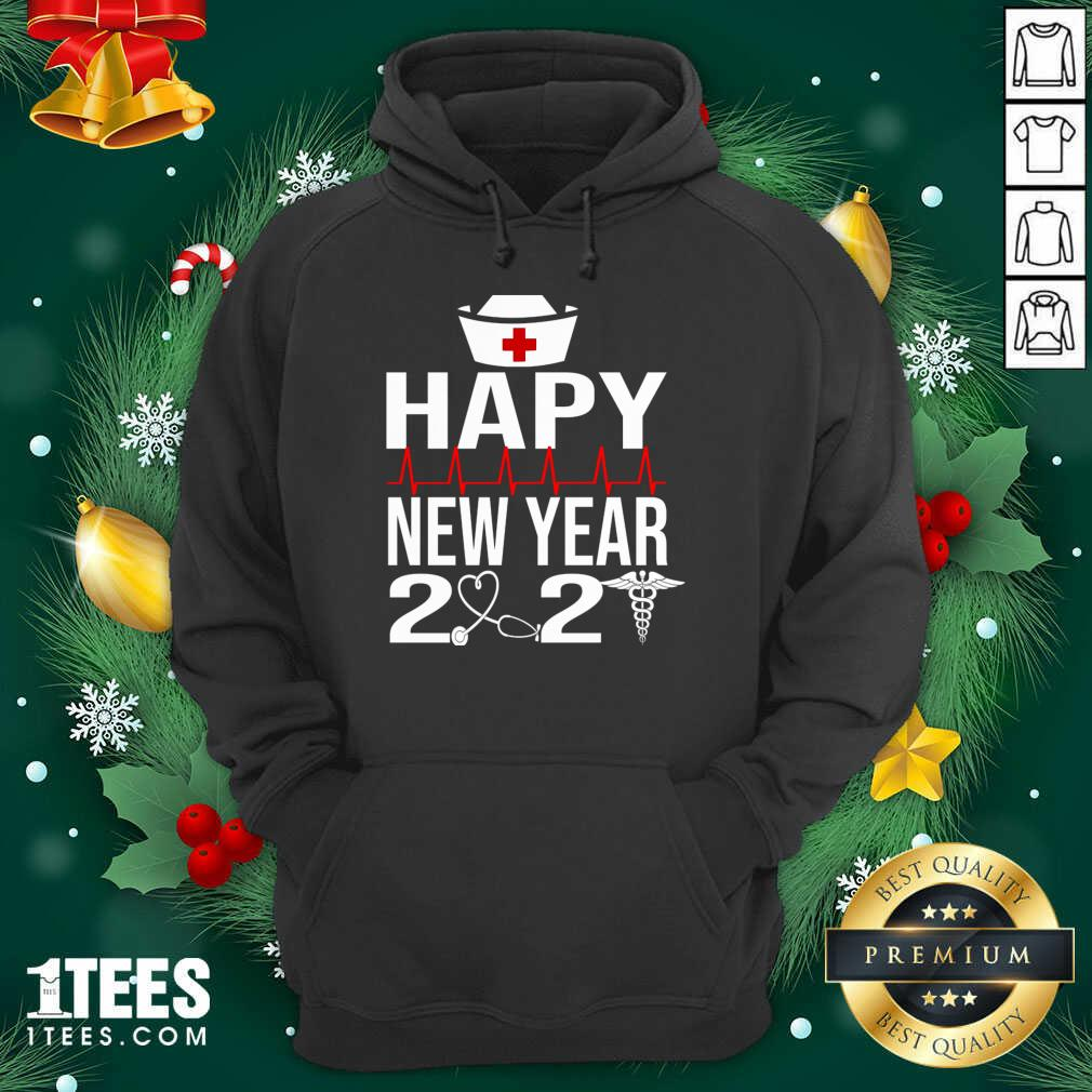Happy New Year 2021 Nurse Crew Santa's Favorite Nurse Hoodie- Design By 1tees.com