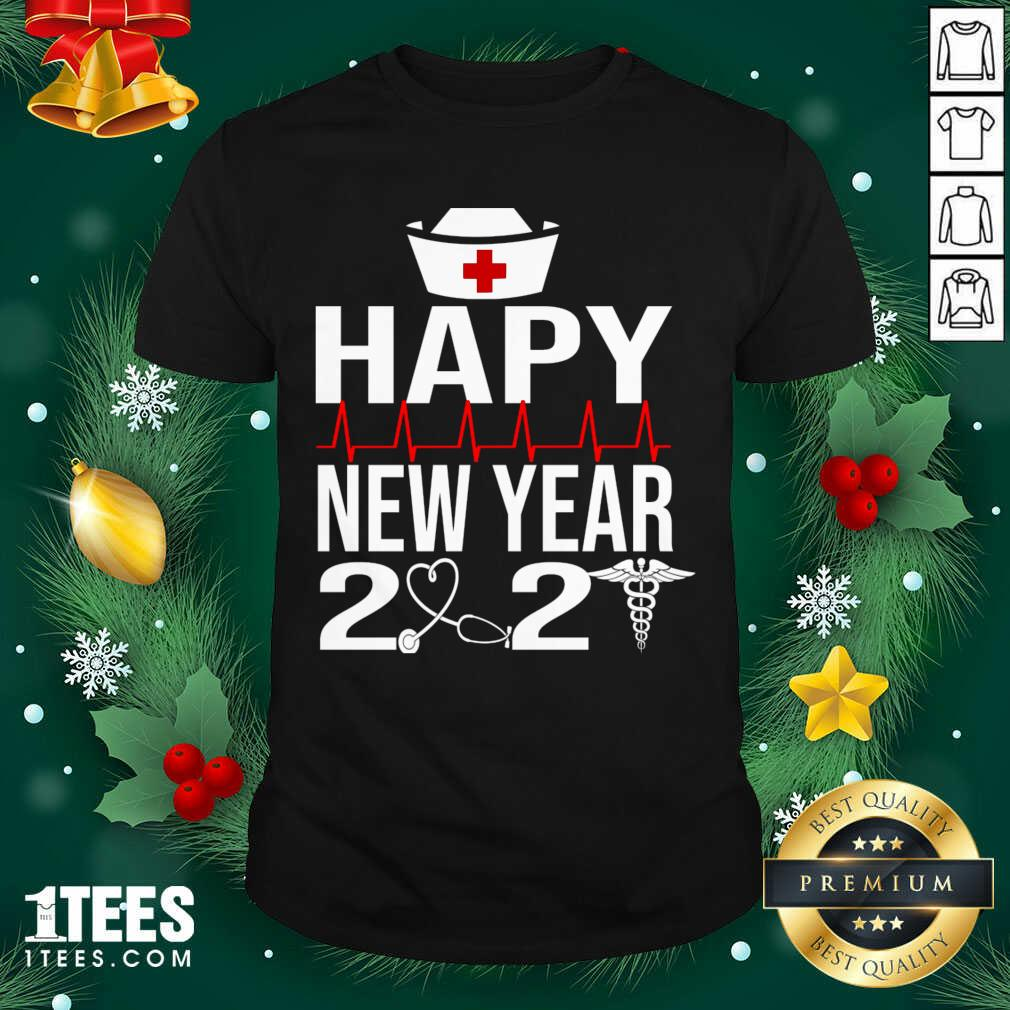 Happy New Year 2021 Nurse Crew Santa's Favorite Nurse Shirt- Design By 1tees.com