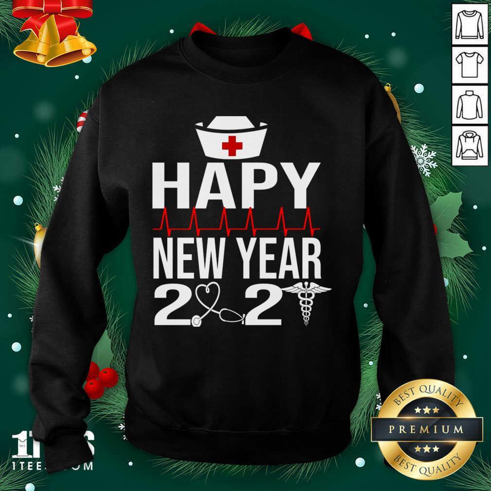 Happy New Year 2021 Nurse Crew Santa's Favorite Nurse Sweatshirt- Design By 1tees.com