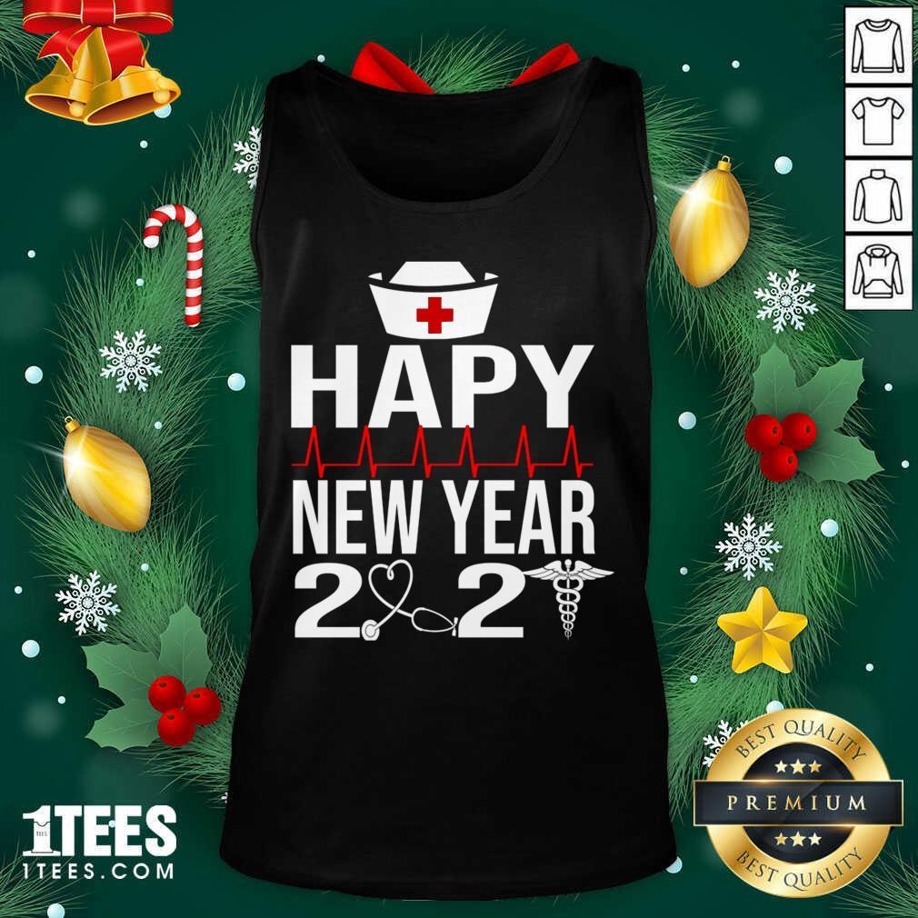 Happy New Year 2021 Nurse Crew Santa's Favorite Nurse Tank Top- Design By 1tees.com