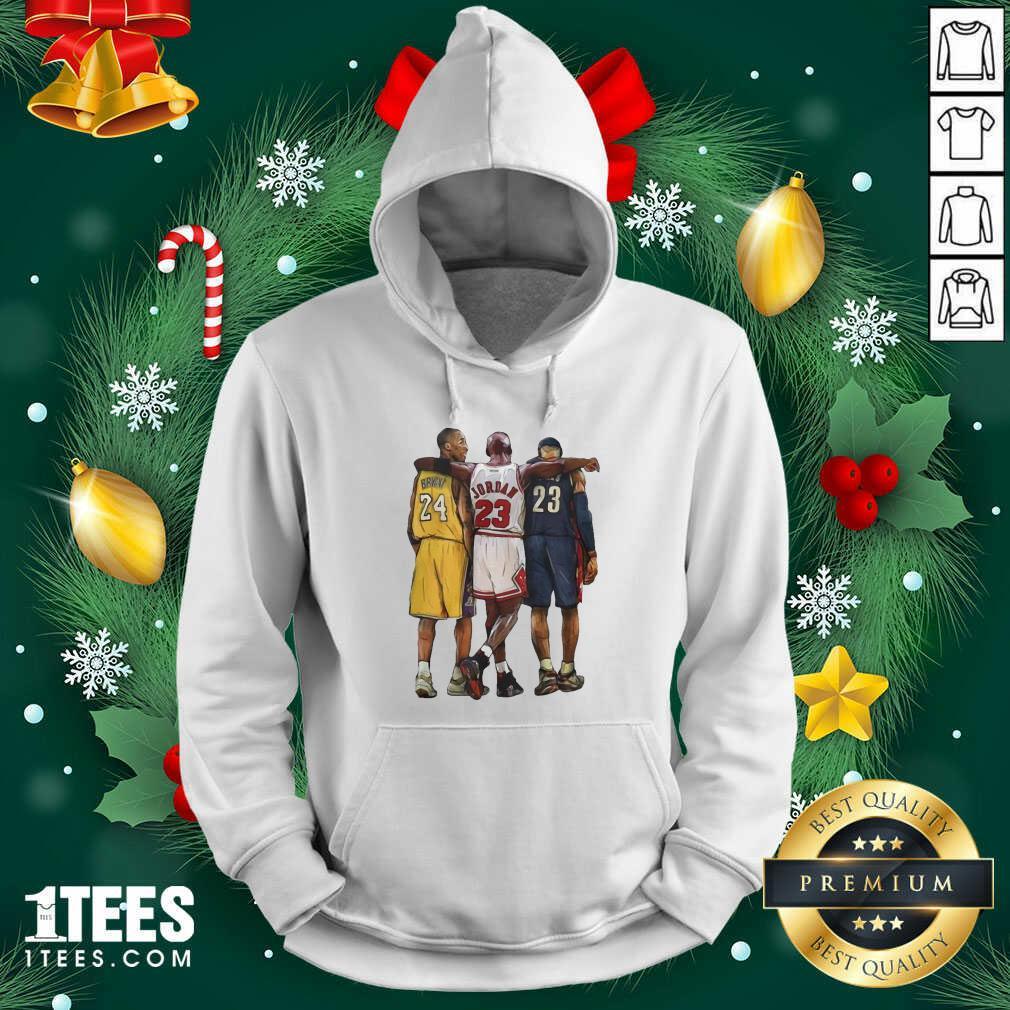 Nba All Stars Kobe Bryant Lebron James Michael Jordan Hoodie- Design By 1Tees.com
