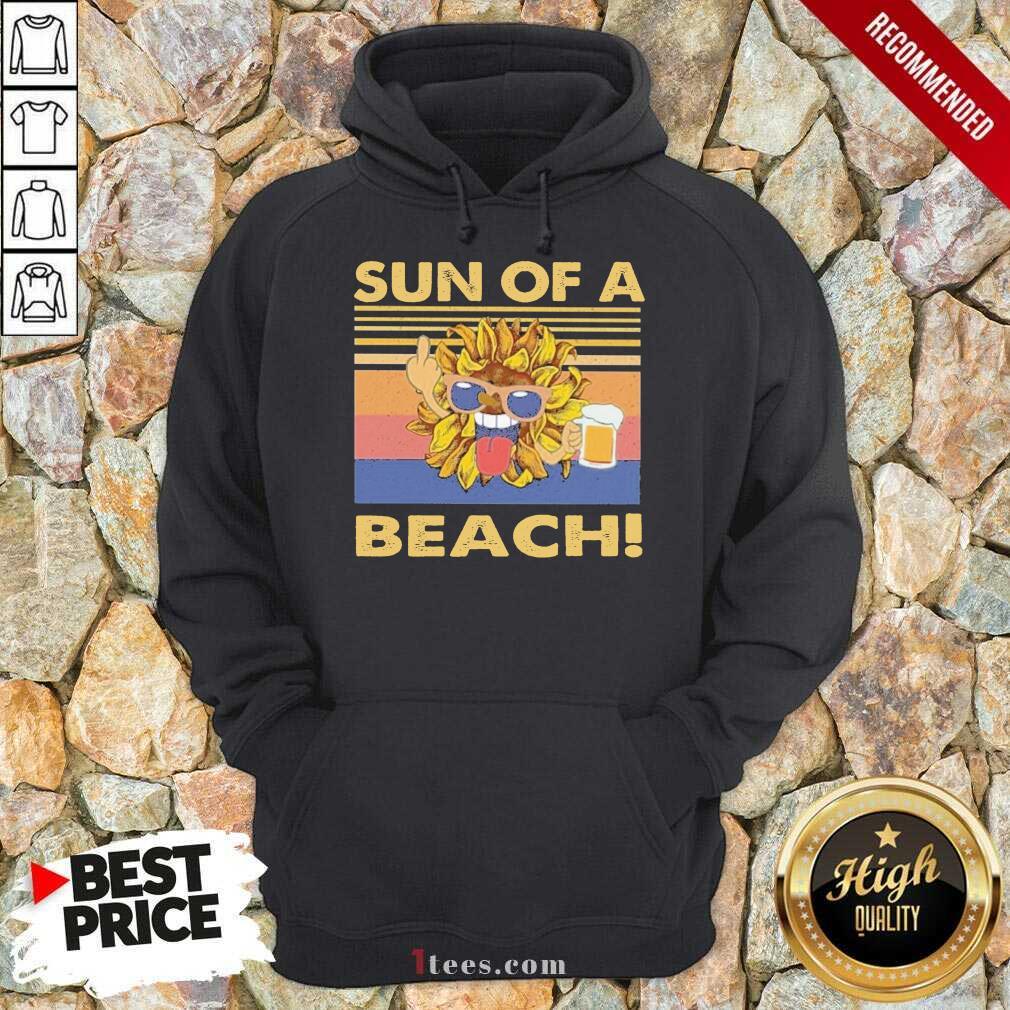 \Sun Of A Beach Beer Vintage Hoodie- Design By 1Tees.com