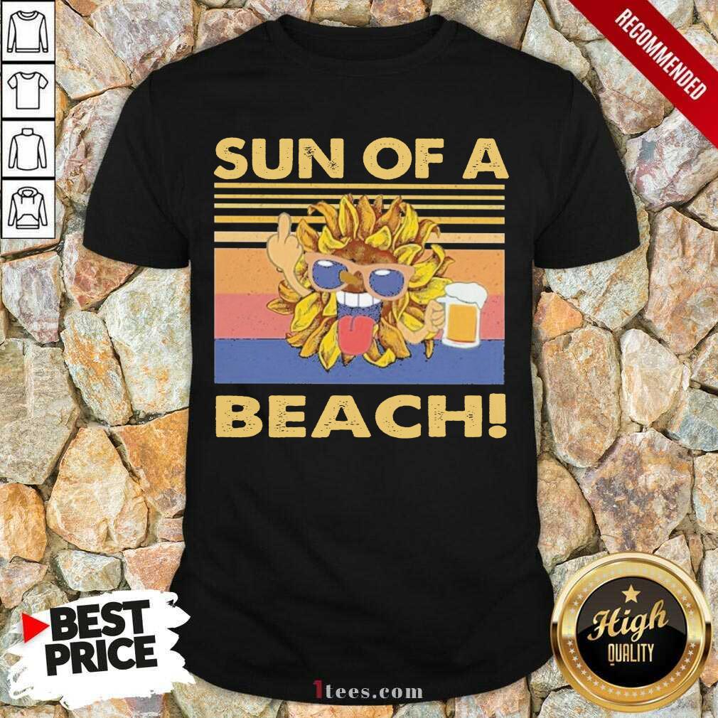 Sun Of A Beach Beer Vintage Shirt- Design By 1Tees.com