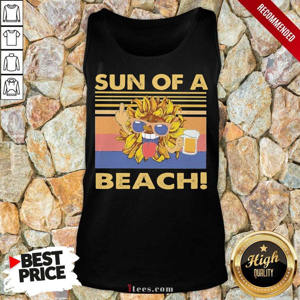 Sun Of A Beach Beer Vintage Tank Top- Design By 1tees.com