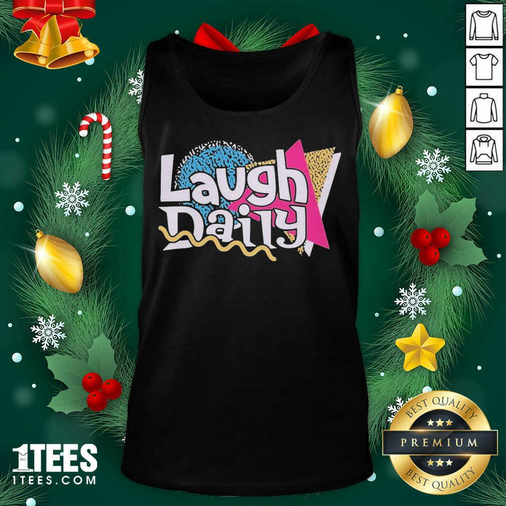 Morejstu Merch Jstu Retro Laugh Daily Tank Top- Design By 1tees.com