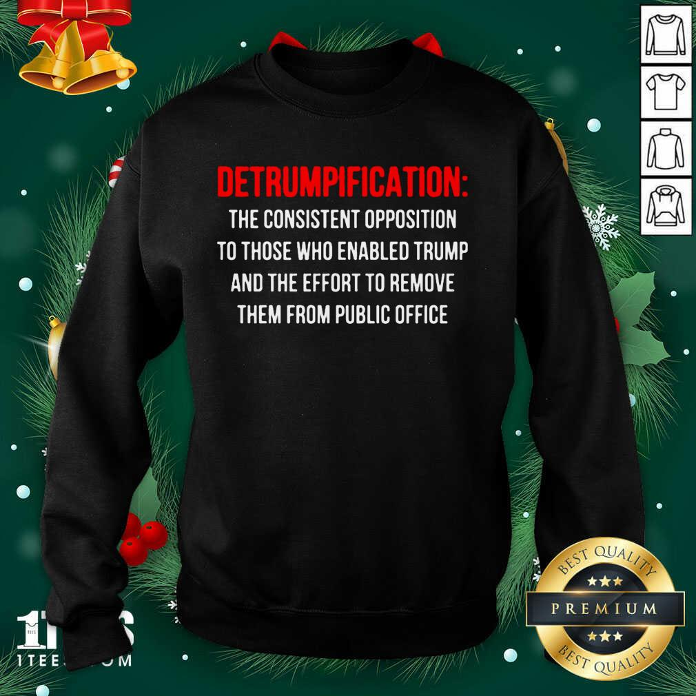 Detrumpification The Consistent Opposition To Those Who Enable Trump Sweatshirt- Design By 1tees.com