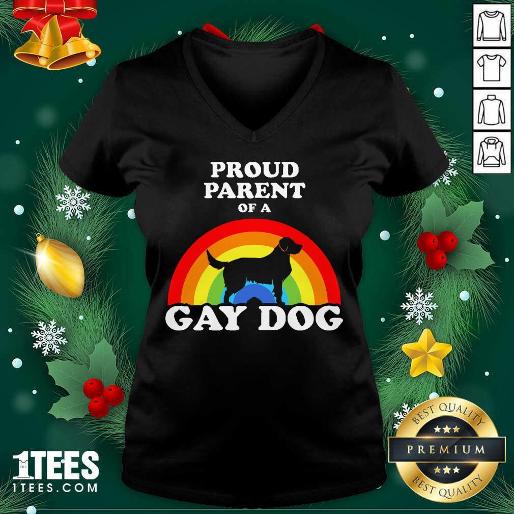 Proud Parent Of A Gay Dog V-neck- Design By 1Tees.com