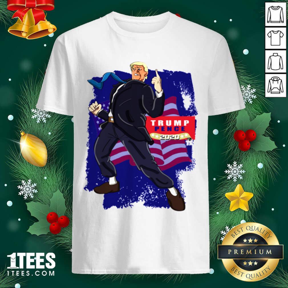 Trump Pence 2020 American Flag Shirt- Design By 1tees.com
