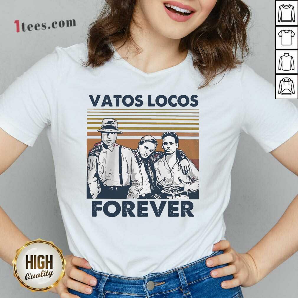 Blood In Blood Out Vatos Locos Forever Vintage V-neck-Design By 1Tees.com