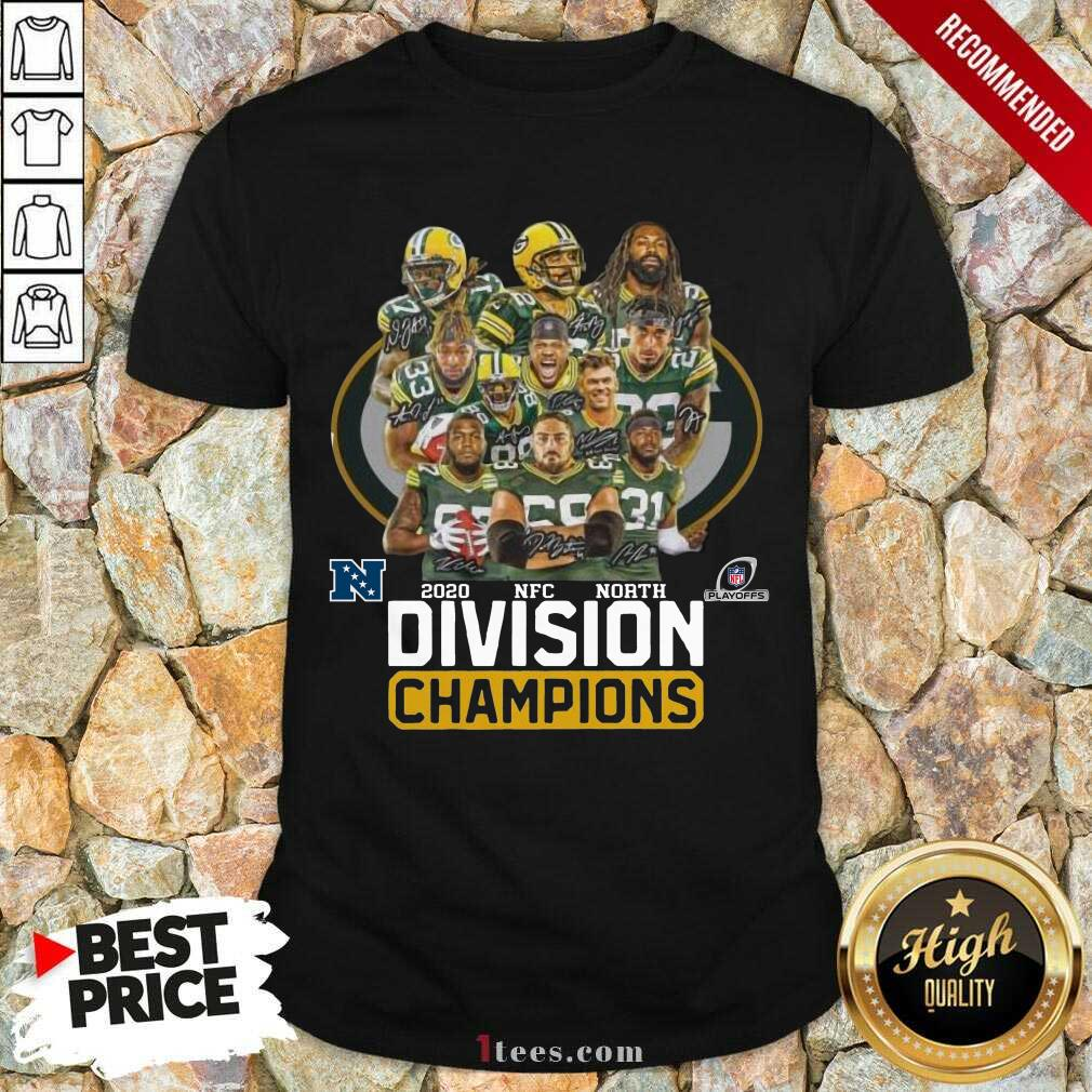 Green Bay Packers 2020 Nfc North Division Champions Shirt- Design By 1Tees.com