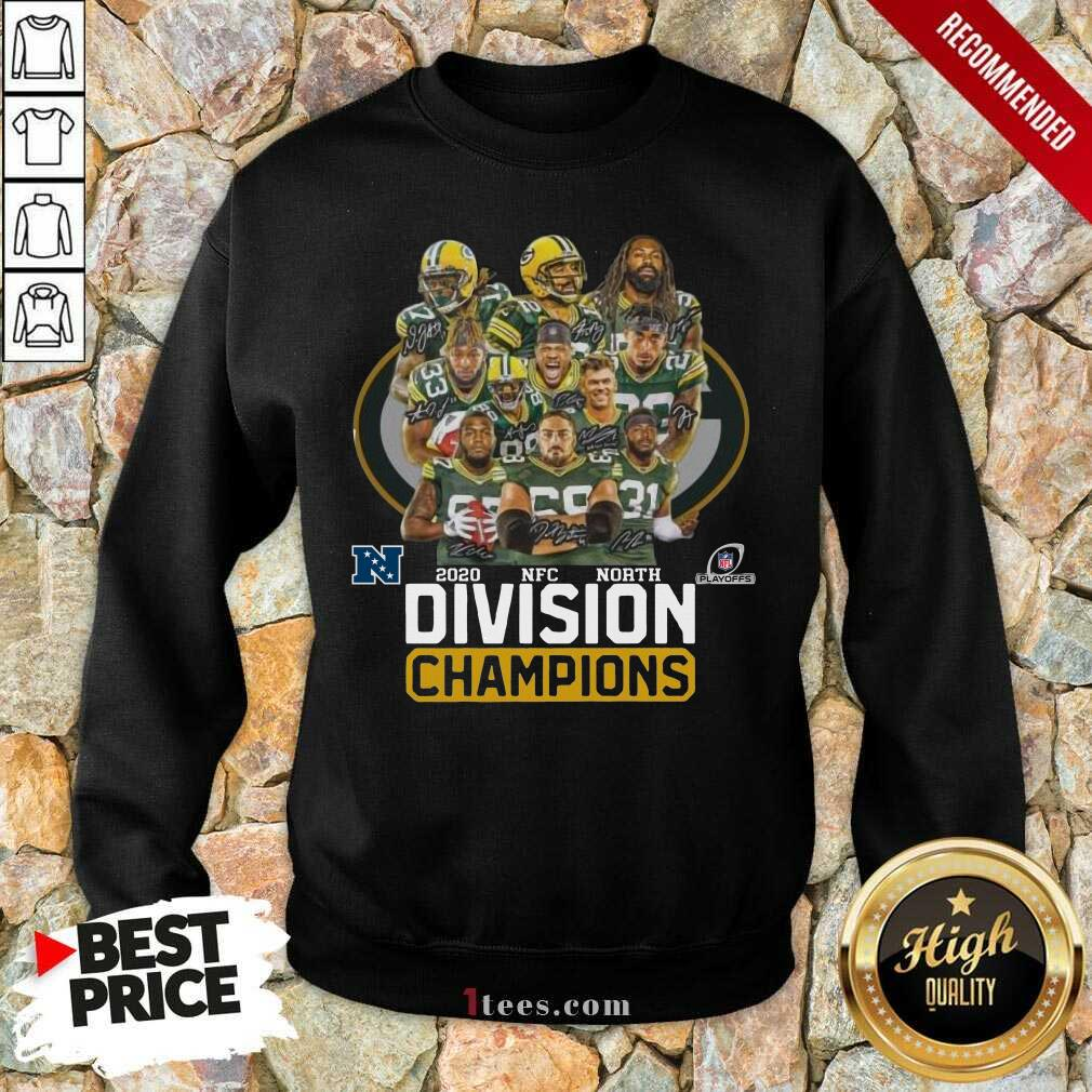 Green Bay Packers 2020 Nfc North Division Champions Sweatshirt- Design By 1Tees.com