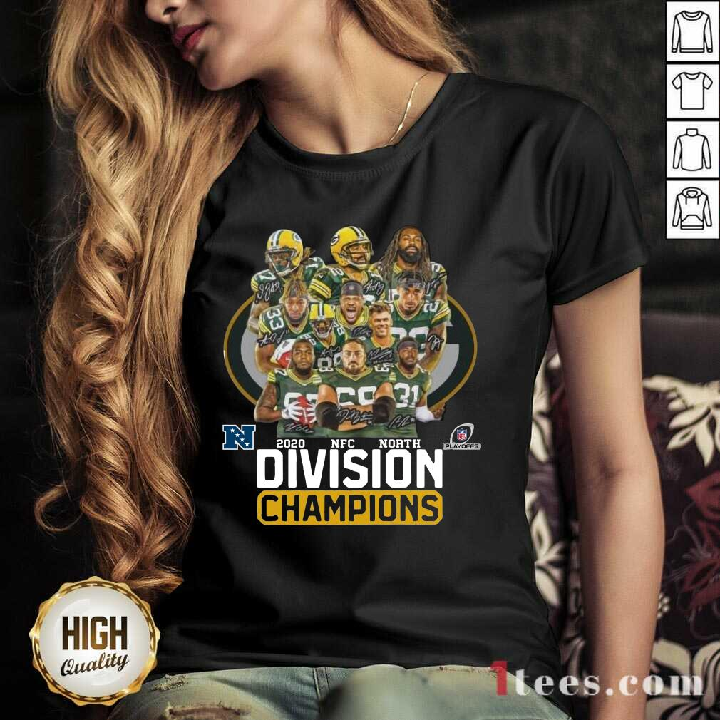 Green Bay Packers 2020 Nfc North Division Champions V-neck- Design By 1tees.com