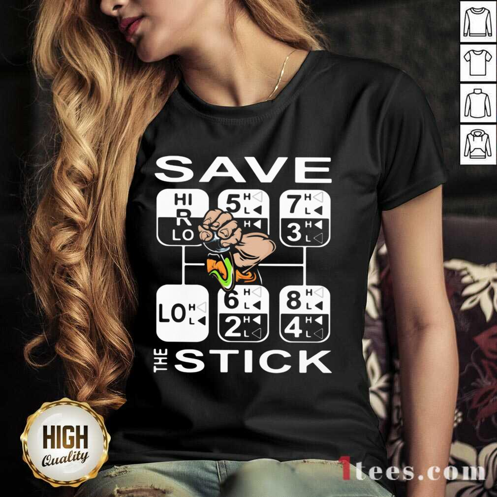 Save The Stick V-neck- Design By 1Tees.com