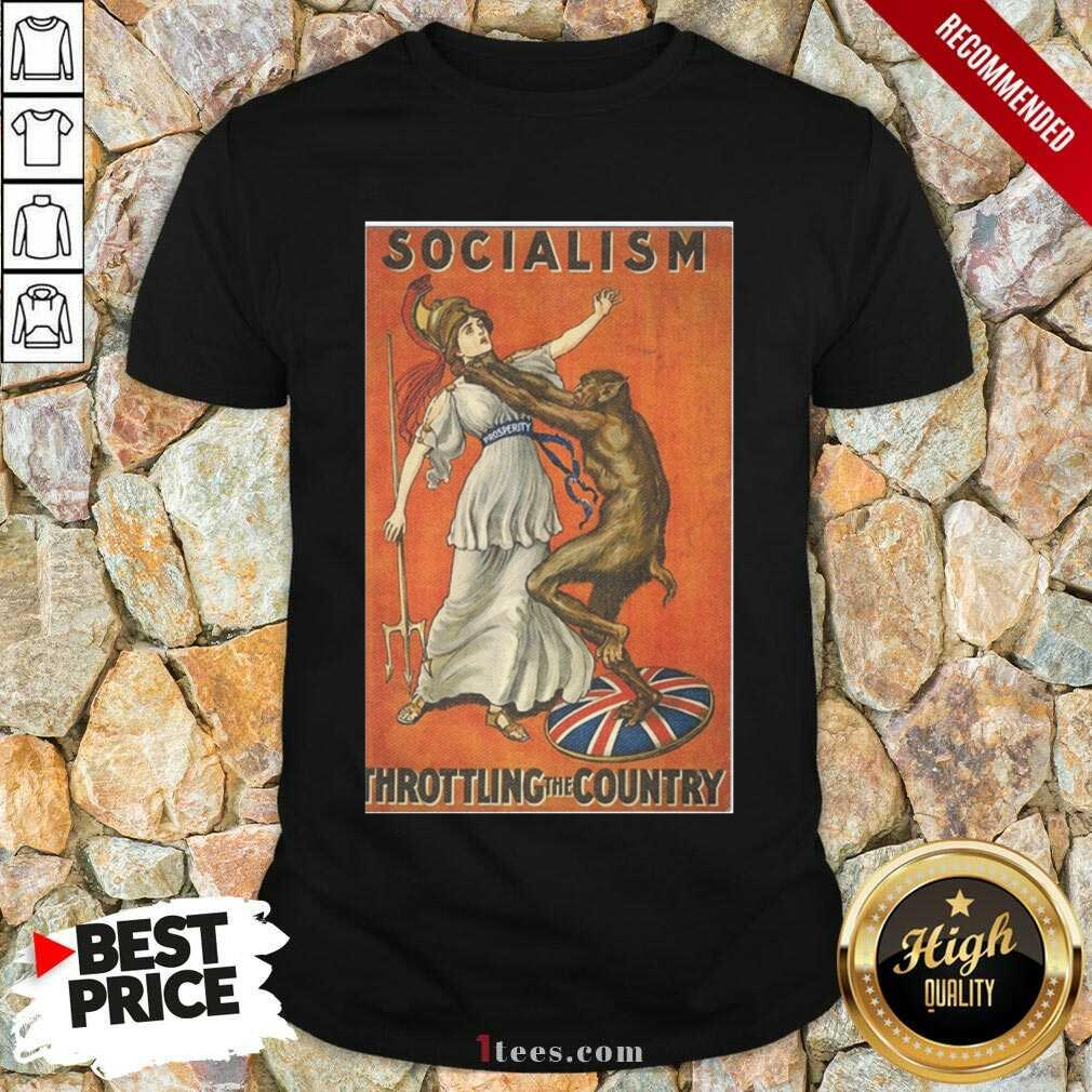 Socialism Throttling The Country Shirt- Design By 1Tees.com