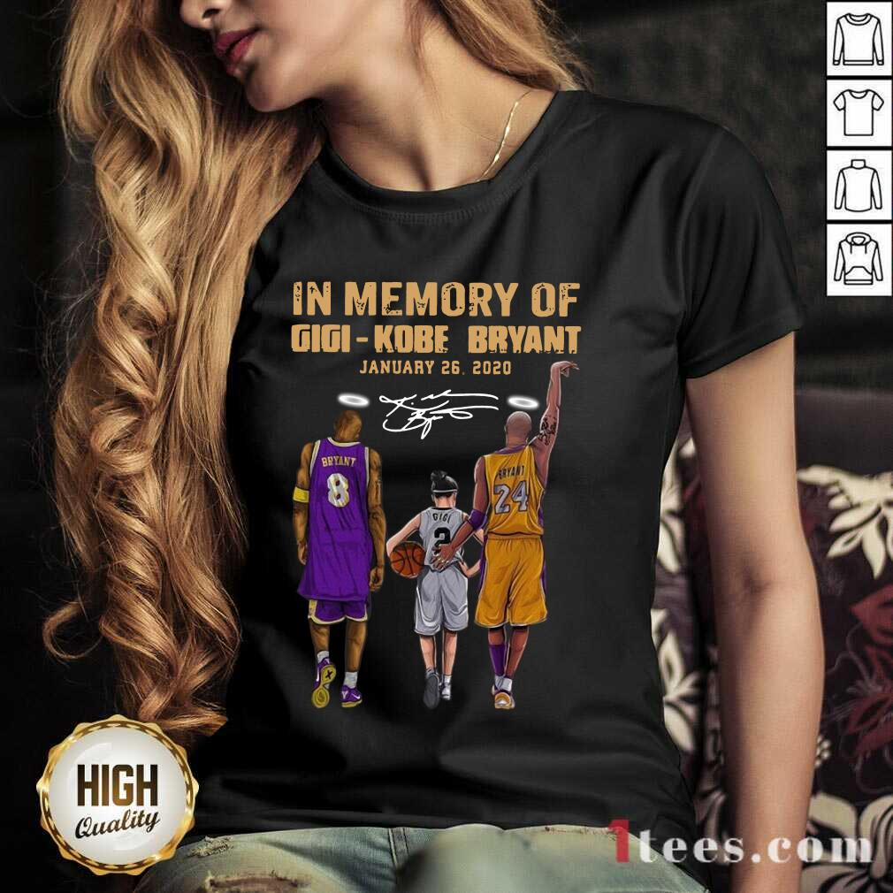 In Memory Of Gigi Kobe Bryant January 26 2020 Signature V-neck