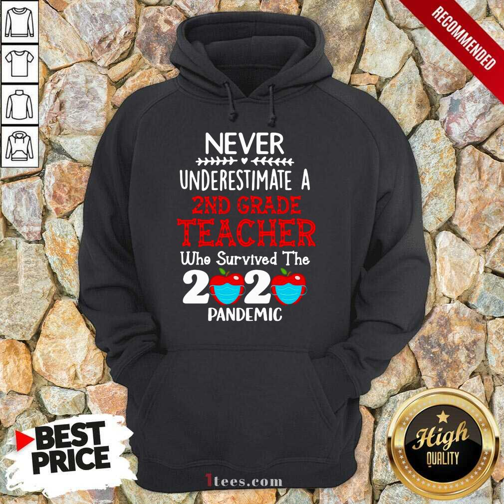 Never Underestimate A 2nd Grade Teacher Who Survived The 2020 Pandemic Hoodie- Design By 1Tees.com