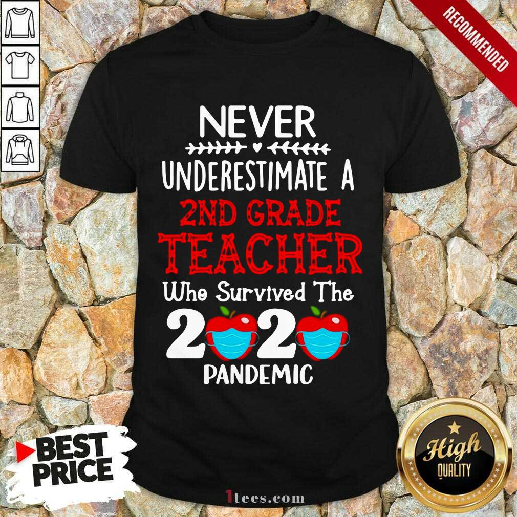 Never Underestimate A 2nd Grade Teacher Who Survived The 2020 Pandemic Shirt- Design By 1Tees.com
