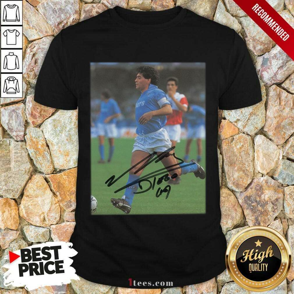 Rip Diego Maradona Legend Never Die Signature Shirt- Design By 1tees.com