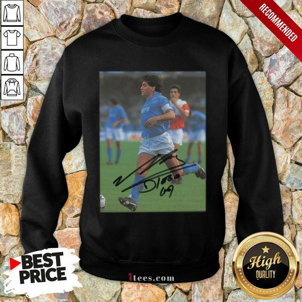 Rip Diego Maradona Legend Never Die Signature Sweatshirt- Design By 1Tees.com
