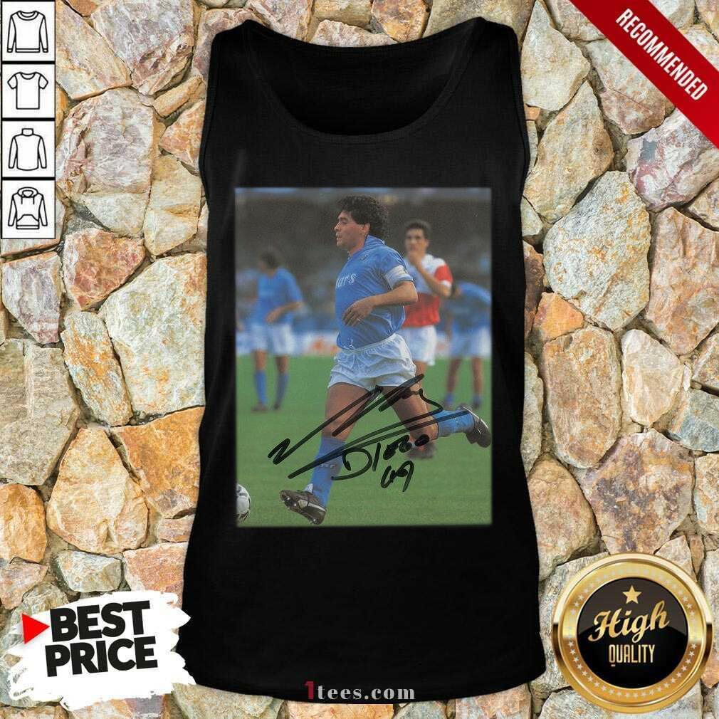 Rip Diego Maradona Legend Never Die Signature Tank Top- Design By 1tees.com