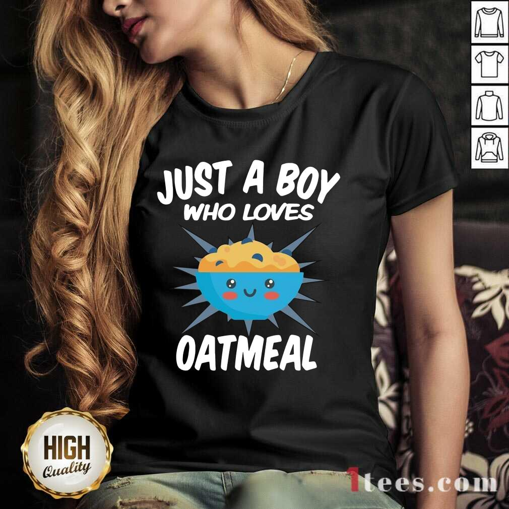 Just A Boy Who Loves Oatmeal V-neck- Design By 1Tees.com
