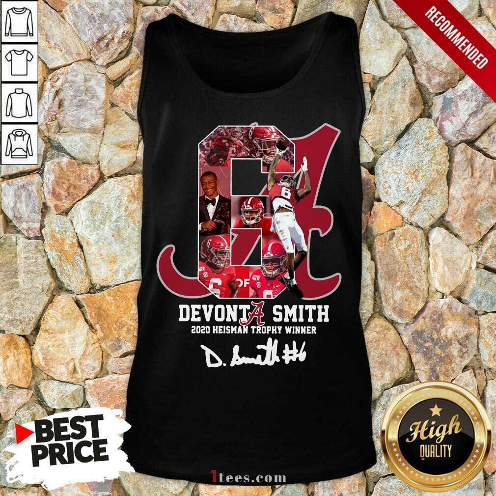 6 Devonta Smith 2020 Heisman Trophy Winner Signature Tank Top-Design By 1Tees.com