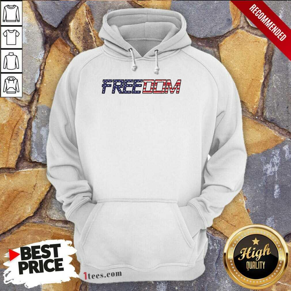 American Flag Patriotic Freedom Hoodie- Design By 1tees.com
