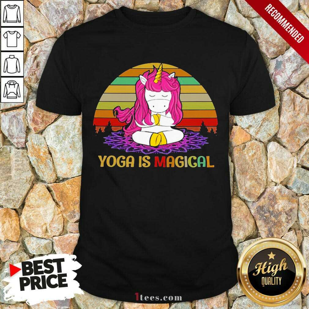 Unicorn Yoga Is Magical Vintage shirt- Design By 1Tees.com