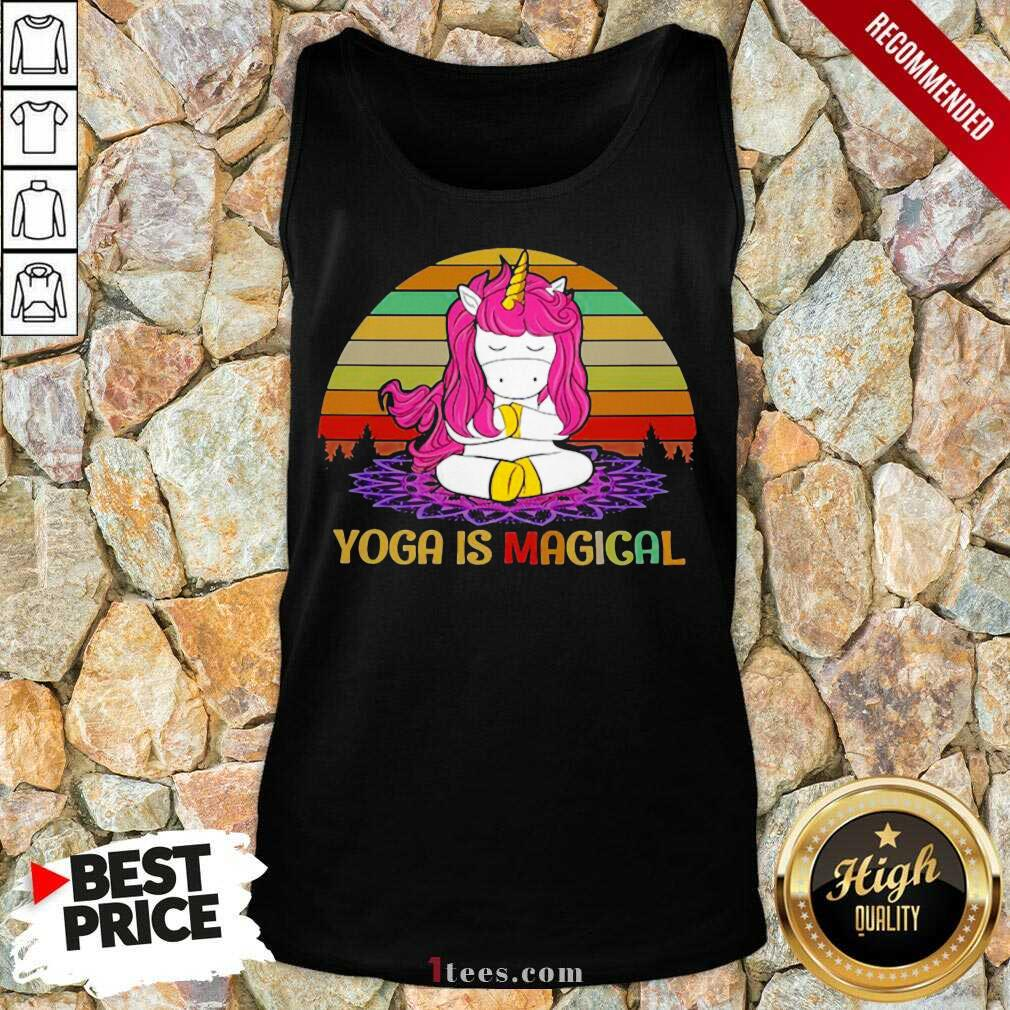 Unicorn Yoga Is Magical Vintage Tank Top- Design By 1tees.com