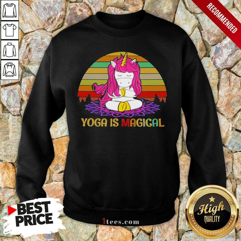Unicorn Yoga Is Magical Vintage Sweatshirt- Design By 1Tees.com