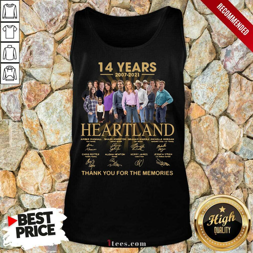 14 Years 2007 2021 Heartland Thank You For The Memories Signatures Tank Top-Design By 1Tees.com