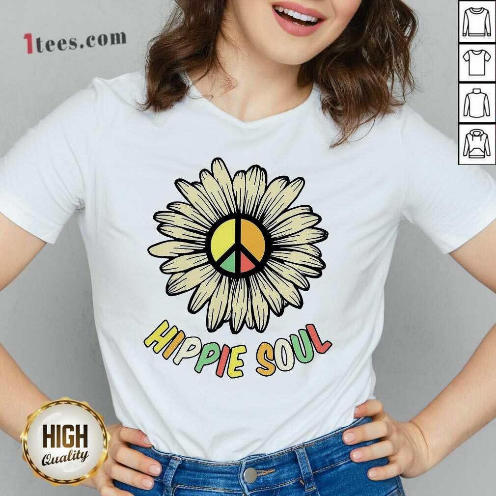 Hippie Soul V-neck- Design By 1Tees.com