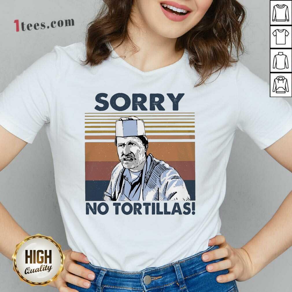 Blood In Blood Sorry No Tortillas Vintage V-neck- Design By 1Tees.com