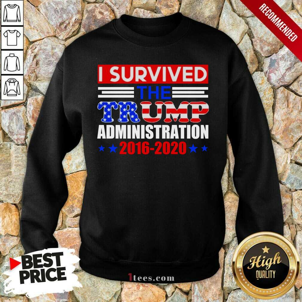 I Survived The Trump Administration Sweatshirt- Design By 1Tees.com