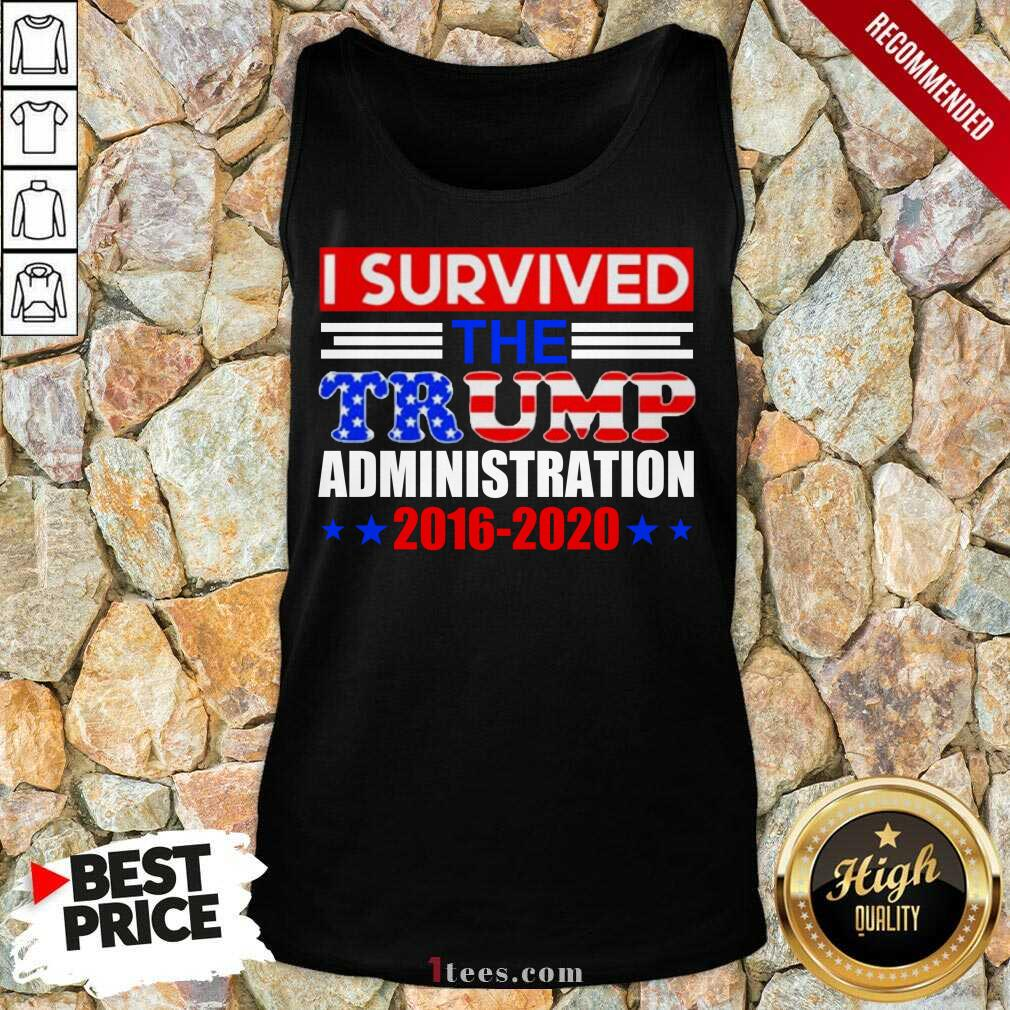 I Survived The Trump Administration Tank Top- Design By 1Tees.com