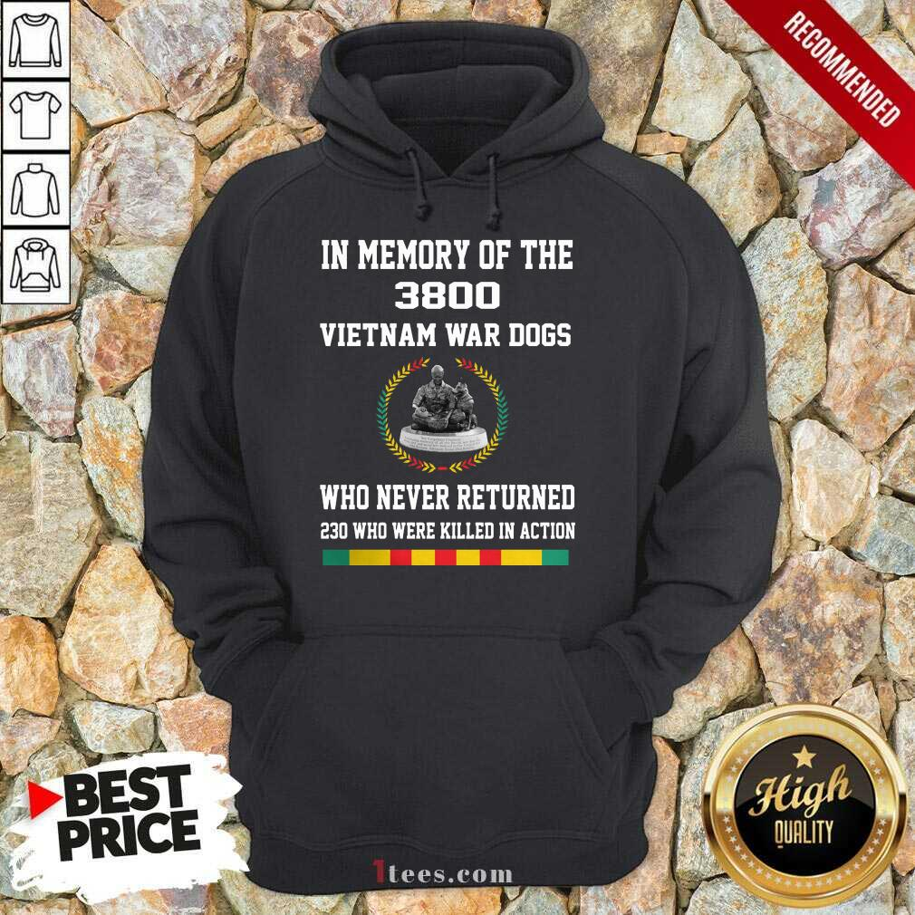 In Memory Of The 3800 Vietnam War Dogs Who Never Returned Hoodie- Design By 1Tees.com