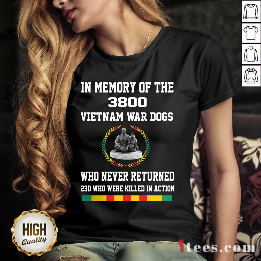 In Memory Of The 3800 Vietnam War Dogs Who Never Returned V-neck- Design By 1tees.com