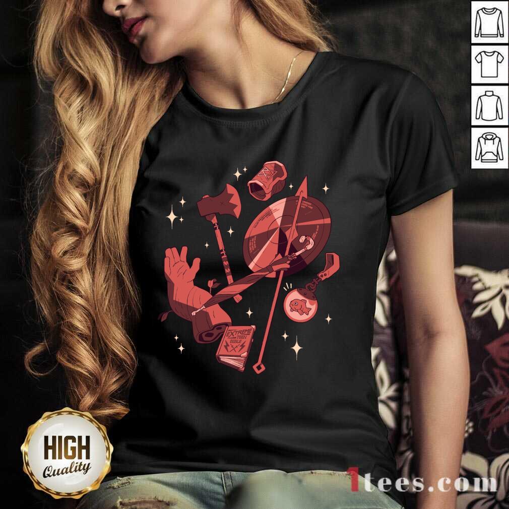 =Mcelroy Merch Tres Horny V-neck- Design By 1Tees.com