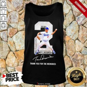 2 Tommy Lasorda Los Angeles Dodgers 1927 2021 Thank You For The Memories Signature Tank Top-Design By 1Tees.com