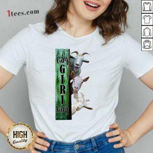 Goats Hey Girl Hay V-neck