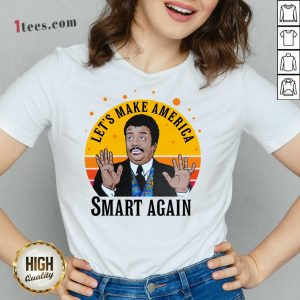 Tyson Lets Make America Smart Again Vintage V-neck- Design By 1Tees.com