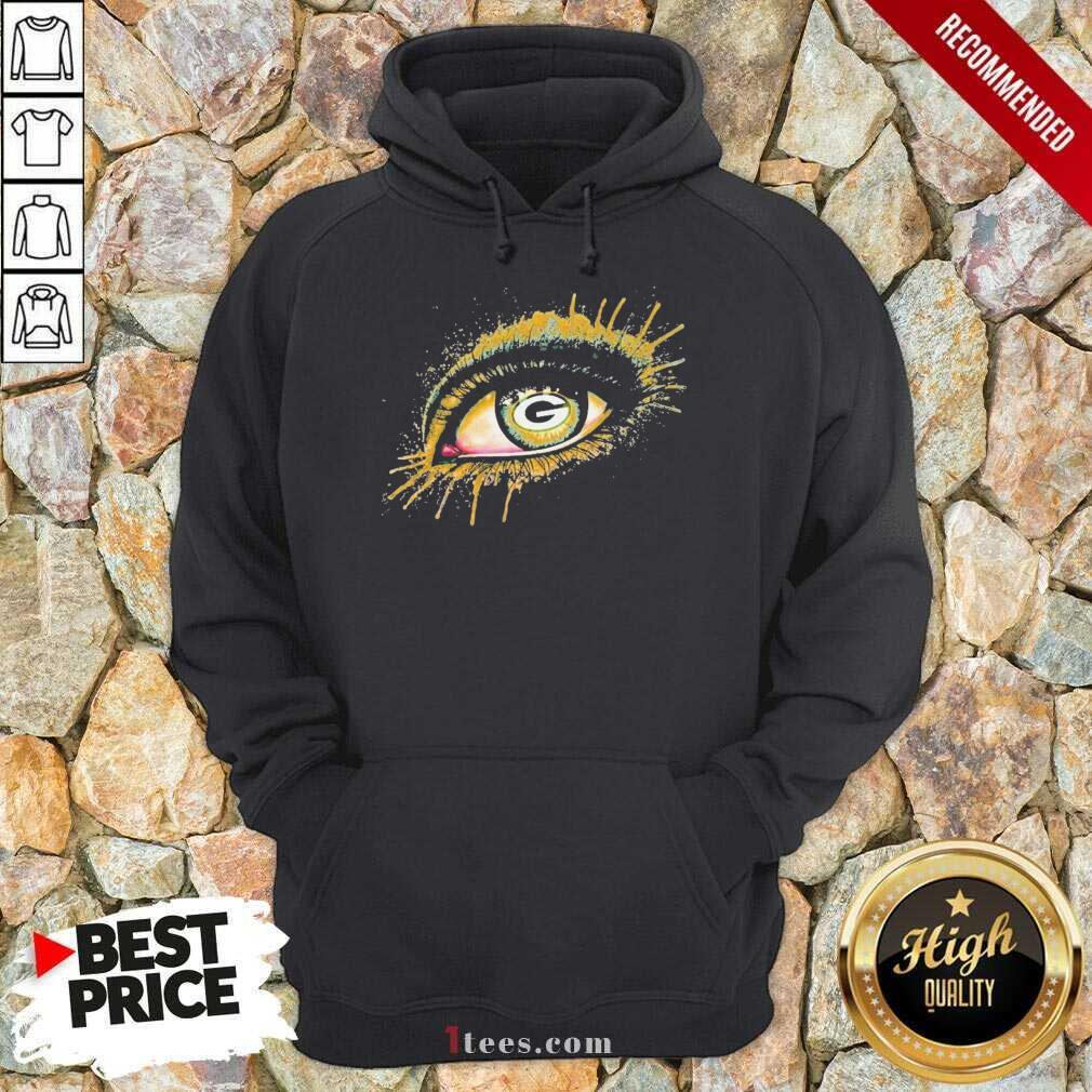 Eyes Green Bay Packers Hoodie- Design By 1Tees.com